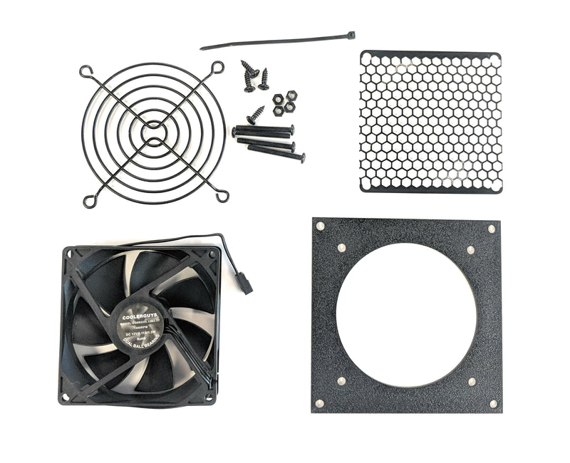Coolerguys Single 92mm Bracket Kit with Fan - Coolerguys