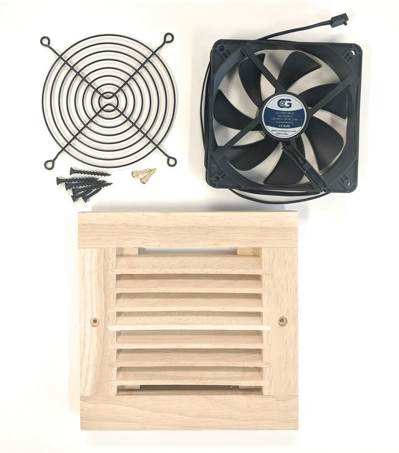 Coolerguys Single 120mm Oak Grill with Fans - Coolerguys