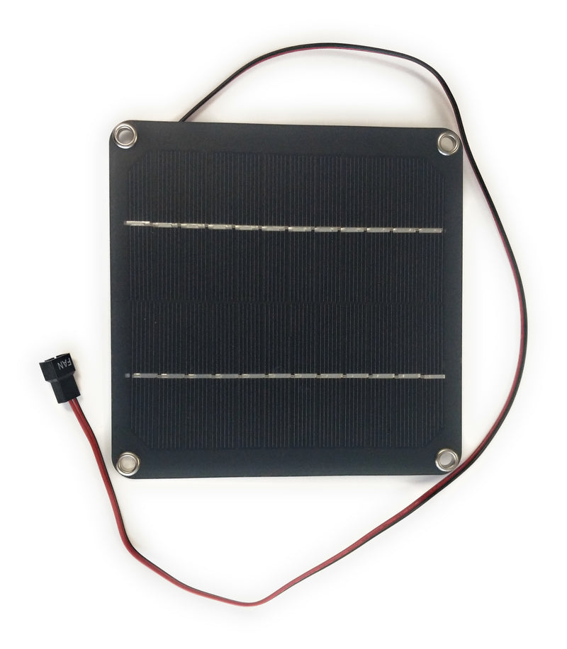 3W Semi Flexible Solar Panel with 12v 3pin Fan Output - Coolerguys
