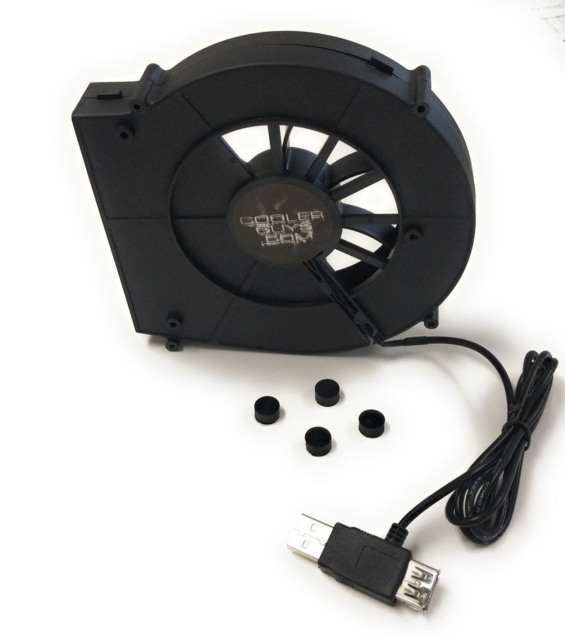 Coolerguys 140x137x25mm Rear Exhaust Blower Fan 5 Volt with USB connector - Coolerguys