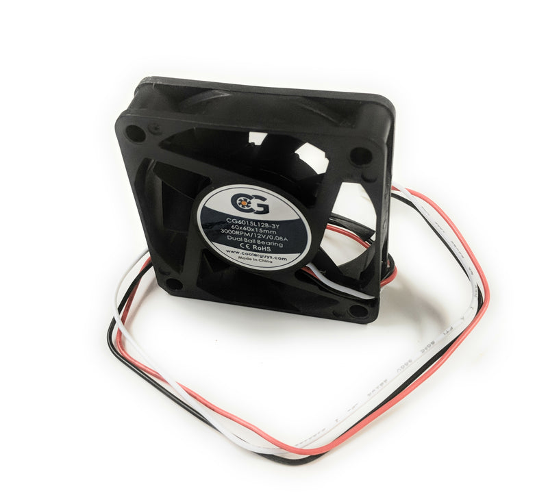 Coolerguys 60mm (60x60x15) Quiet 12v Fan - Coolerguys