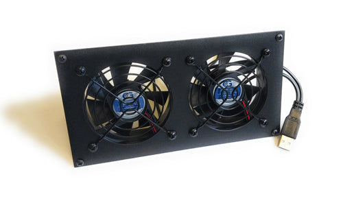 Coolerguys PRO-Metal Series Dual 80mm USB Powered Cooling kit CabCool802-M-USB