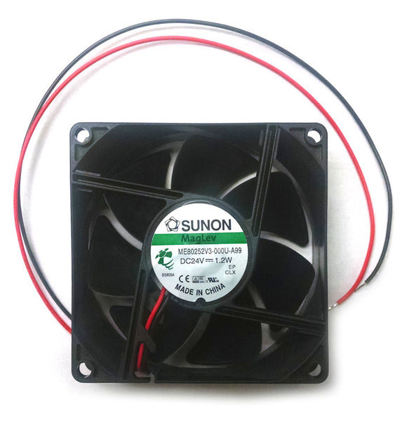 Sunon 80X25mm 24V 2 bare wire MagLev Bearing Fan #ME80252V3-000U-A99