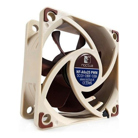 Noctua 60x60x25mm PWM Quiet Computer Cooling  Fan NF-A6x25