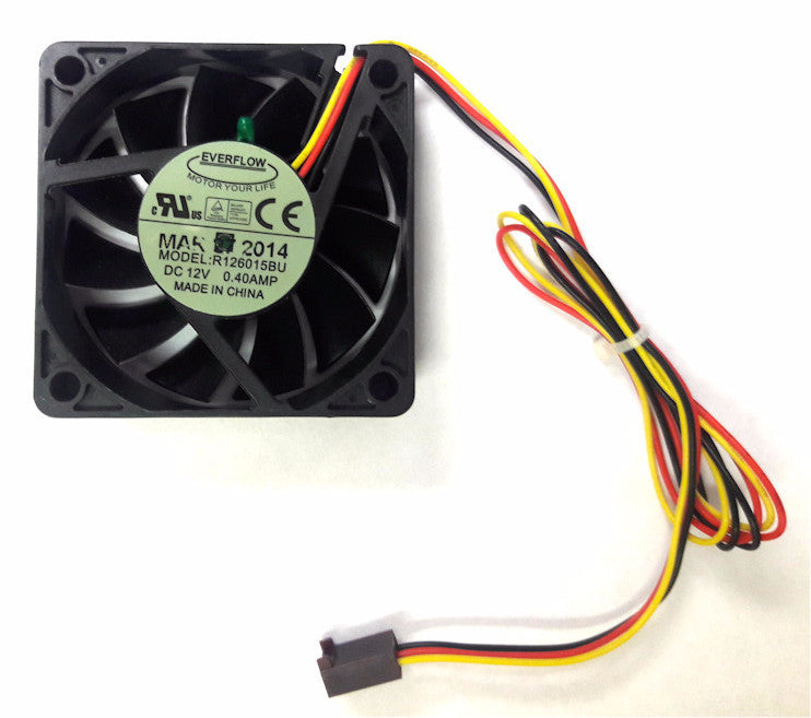 everflow 60x60x15mm 12 volt 3 wire 3 pin fan with thermistor r126015but Computer Fan Connector