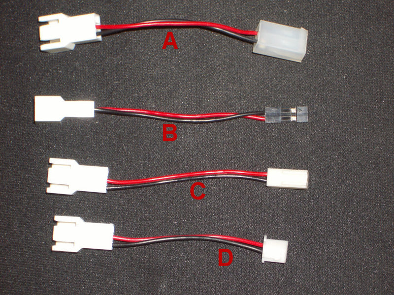 3 to 2 Pin Adapter (4) different styles - Coolerguys