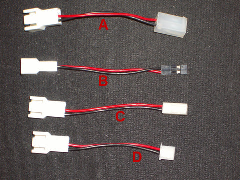 3 to 2 Pin Adapter (4) different styles