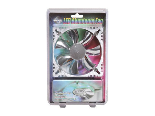 Evercool 120x120x25mm Aluminum Medium Fan with or without with Blue LEDS ALED12025B2