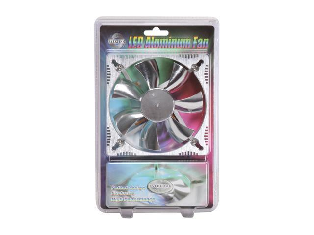 Evercool 120x120x25mm Aluminum Medium Fan with Blue LEDS ALED12025B2