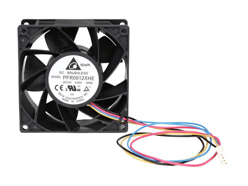 Delta 92x92x38mm 12v Ultra High Speed FN-PFR0912XHE-PWM Cooling Fan - Coolerguys
