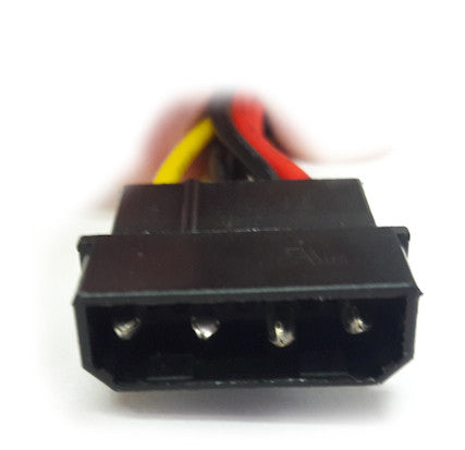 SATA Power Cable with Dual right angle SATA plug crimping type connector