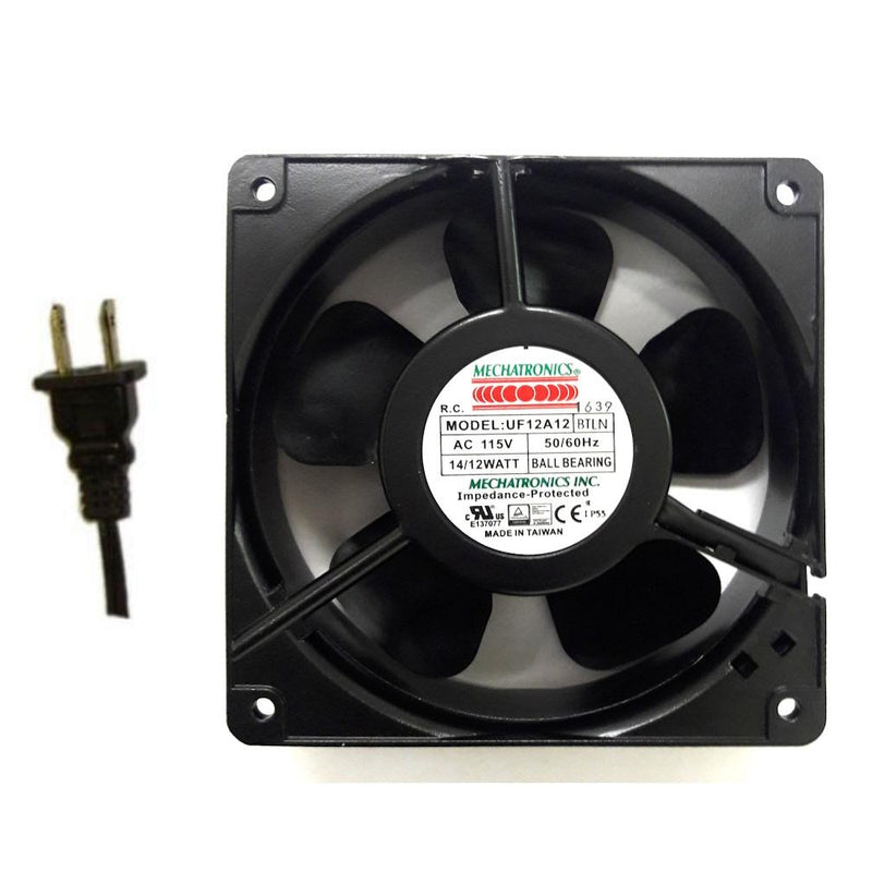 Mechatronics 120x38mm 115V low speed IP55 Rated AC Fan UF12A12-BTLNR - Coolerguys