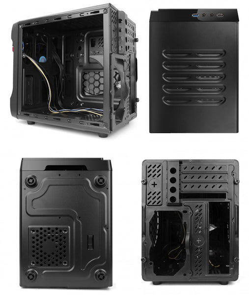 Spire PowerCube 715 Case with 420 watt power supply  # SPC715B-420W-E12-2