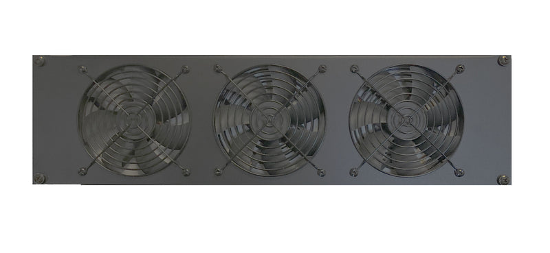 Coolerguys 3U Triple 120mm Fan Rackmount Cooling Kit with Low, Medium, or High Speed Fans
