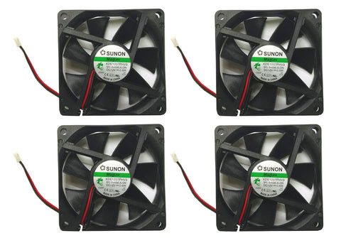 (4-Pack)Sunon 70x70x15mm 2Pin/2Wire  Vapo Bearing 12 volt Fan #KDE1207PHV3 Low Speed