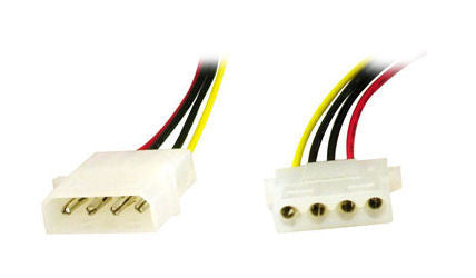 4 Pin Molex Power Cord Extension Cable 12 18  24 and 36""