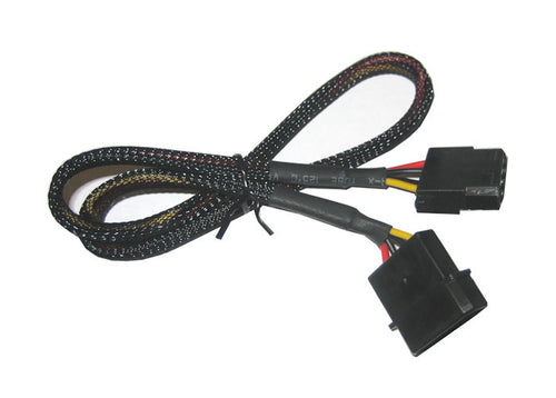 4 Pin Molex Sleeved Fan Cable extension 12 thru 72 inches FC44-xxBKS - Coolerguys