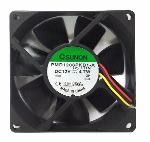 Sunon 80x80x20mm 12 Volt High Speed Fan-PMD1208PKB1