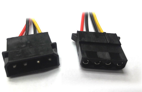 4 Pin Molex Power Cord Extension Cable 12 18  24 and 36