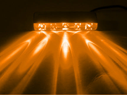 5 LED Amber  Lazer Light, w/ 12 Volt 4-Pin Plug