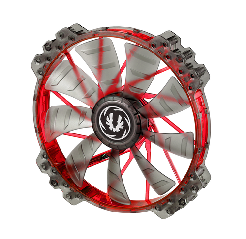 BitFenix Spectre Pro 200x200x25mm 12 Volt Fan Red LED BFF-LPRO-20025 (Open Box)