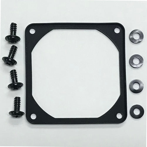 70mm Black Anti-Vibration Soft Silicone Fan Gasket with Mounting Hardware - Coolerguys