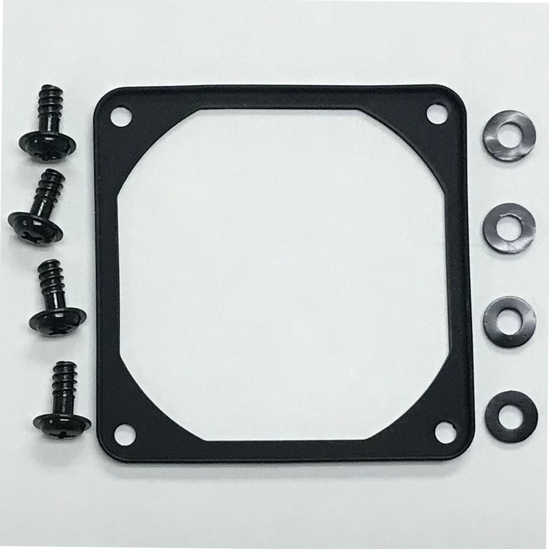 70mm Black Anti-Vibration Soft Silicone Fan Gasket with Mounting Hardware