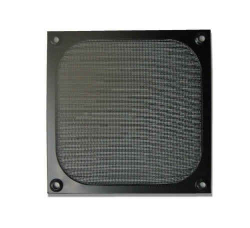 80mm Aluminum Fan Filter Black