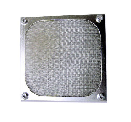 80mm Aluminum Fan Filter Silver