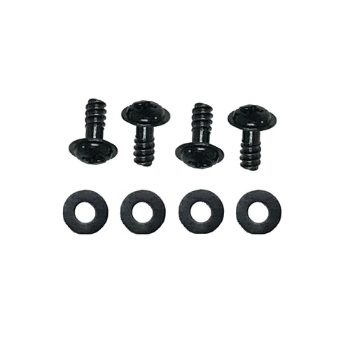 Coolerguys Black Fan Screws with Anti-Vibration Washers (4 pack)