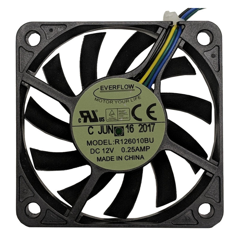 Everflow 60x60x10mm 12 volt DC Fan with PWM Function R126010BUAF - Coolerguys