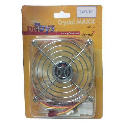 Pctoys 92x92x25mm Crystal Fan with Blue (2) LEDs - Coolerguys