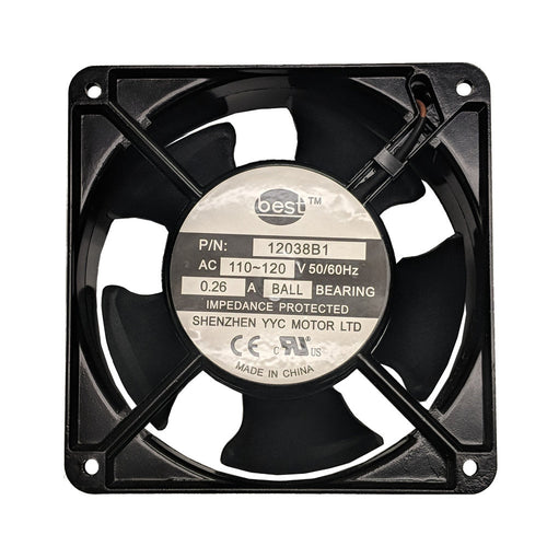 Best Electronics 120x120x38mm Low Speed AC Fan BT12038B1 - Coolerguys
