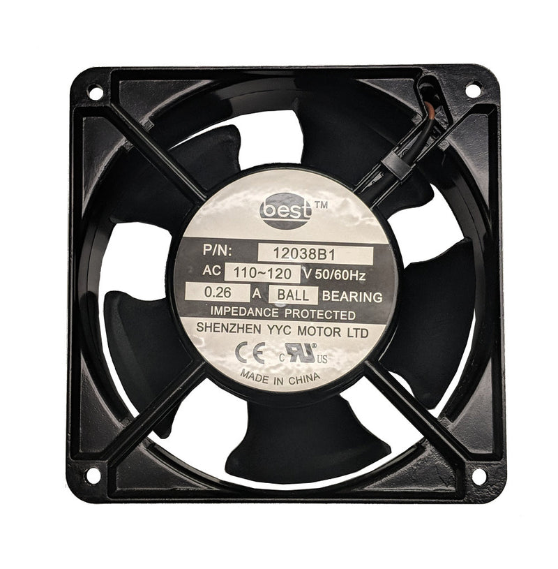 Best Electronics 120x120x38mm Low Speed AC Fan BT12038B1L - Coolerguys