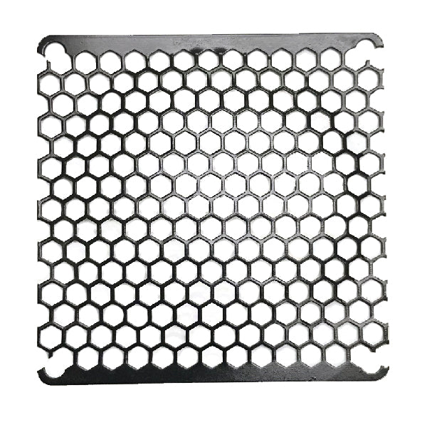Coolerguys 92mm Honeycomb Black Metal Grill - Coolerguys