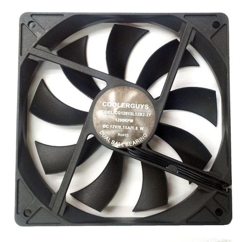 CoolerGuys Slim Ultra Quiet 120x120x15mm 3 Pin Fan CG12015L12B2-3Y - Coolerguys