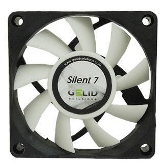 Gelid Silent 7 Case Fan 70x70x15mm Fan with 3 pin connector #FN-SX07-22