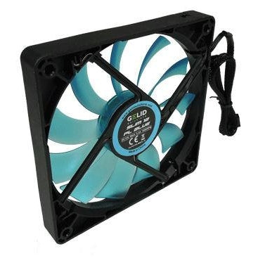 Gelid PMW 120mm CASE FAN SLIM 12 PL BLUE w/LED  #FN-FW12SlimBPL-16