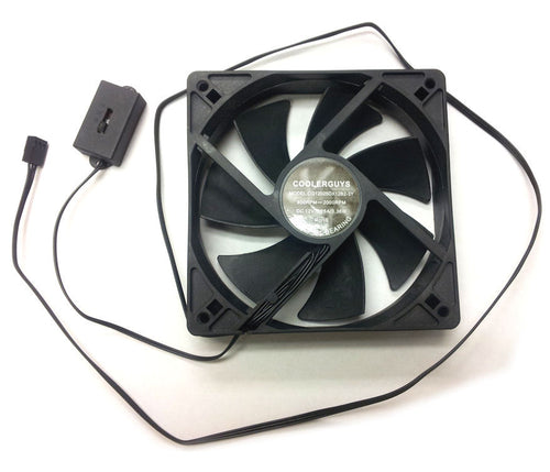 Coolerguys 120mm (120x120x25) Adjustable Speed Fan - Coolerguys