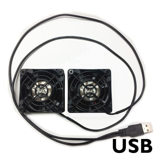 Coolerguys Dual 60x60x25mm USB Connection CG06025L12B2-USB - Coolerguys