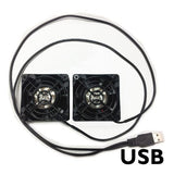 Coolerguys Dual 60x25mm component cooling fans with USB connection CG06025L12B2-USB