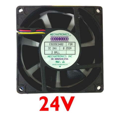 Mechatronics 92x25mm High Speed 24 volt Fan with LOCKER ROTOR ALARM SIGNAL #E9225E24B2-FSR