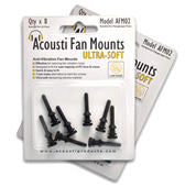 Acousti Anti Vibration Fan Mounts Ultra-Soft / pack of (8) AFM02B - Coolerguys