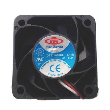 Top Motor 40x28mm 12V 9000 rpm fan with 3 pin connector #DF124028BL-3G