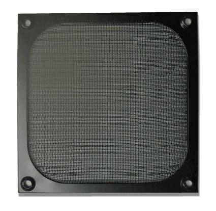 92mm Aluminum Filter Grill Black - Coolerguys