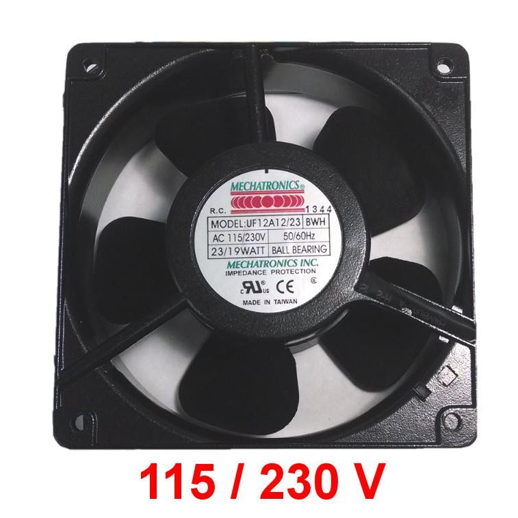 Mechatronics 120x120x38mm High Speed Dual Voltage AC Fan UF12A12/23-BWHR - Coolerguys