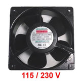 Mechatronics UF12A12/23-BWHR 120x38mm High Speed Dual Voltage AC 115v or 230v Fan