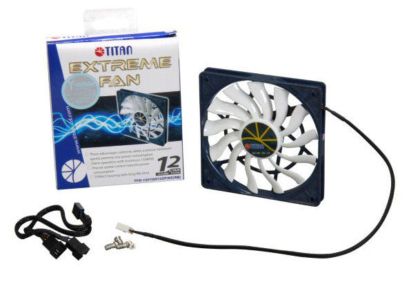 Titan Extreme 120X15mm 12 volt Z-Axis Bearing Fan,4 pin Micro-Chip PWM # TFD-12015H12ZP