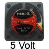 Evercool 25x10mm 5V 3-pin Ball Bearing Fan EC2510M05CA