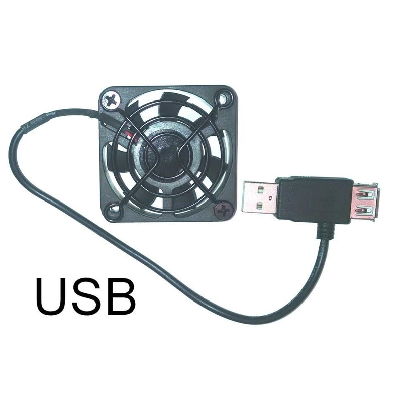 Coolerguys 50mm (50x50x10) USB FAN With Single Black Grill - Coolerguys